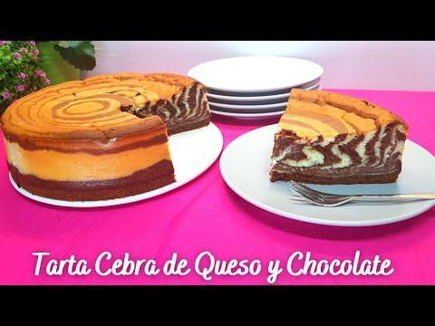 Tarta Cebra de Queso y Chocolate | Zebra Cheesecake | Tarta de Queso al Horno #98