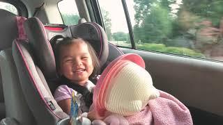 Chloe laughing at herself