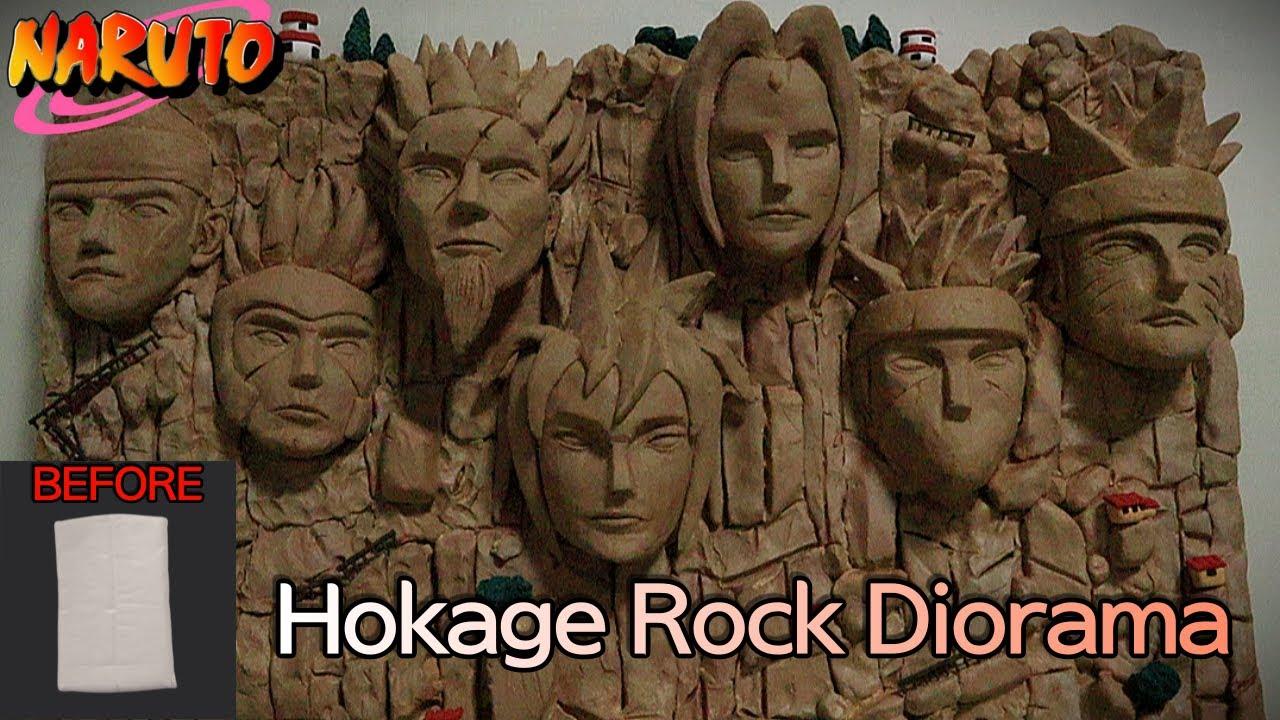 지점토로 나루토 호카게 얼굴바위 디오라마 만들기ㅣMaking Naruto Hokage Rock Diorama with clay