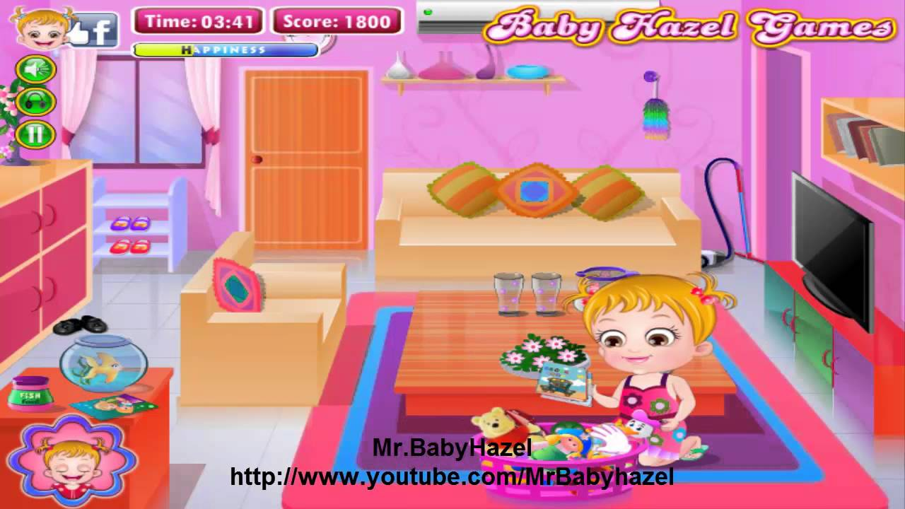 baby hazel cleaning time games baby movie level 3