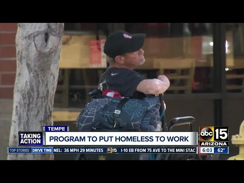 Tempe hoping to find work for the homeless