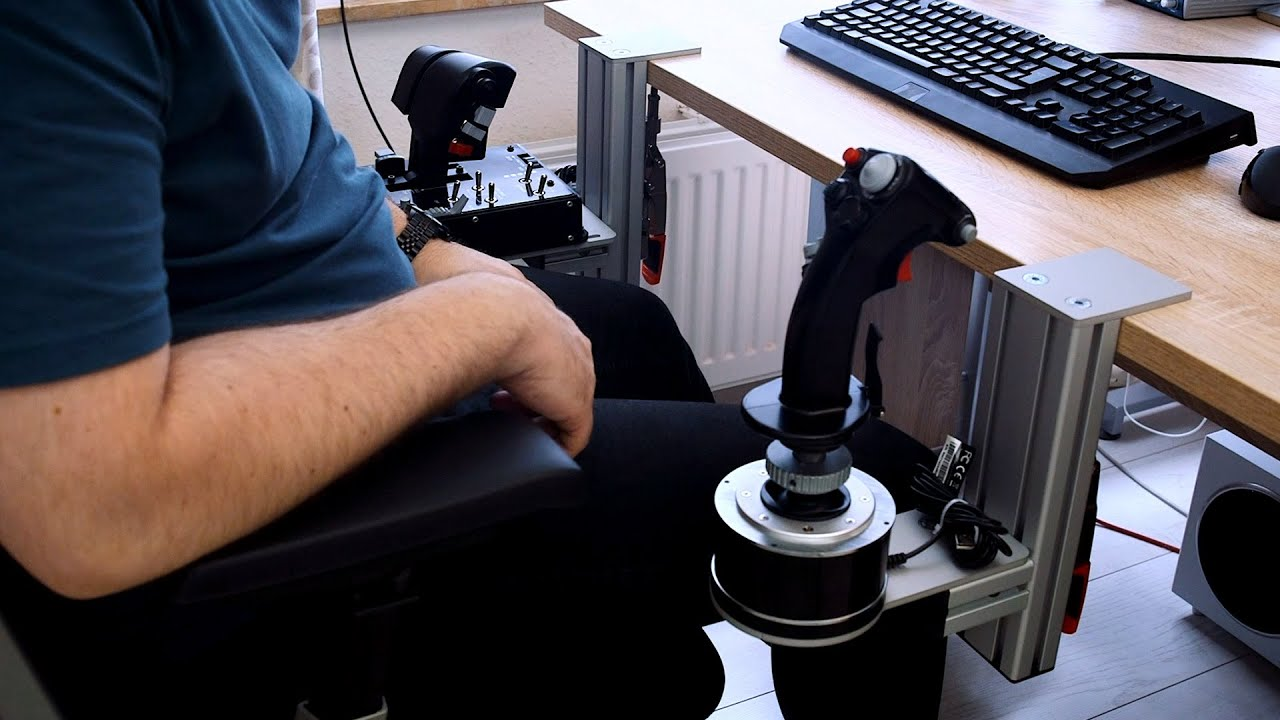 Office Chair Joystick Mount Adirondack Covers Australia Hotas Table Introduction With Thrustmaster