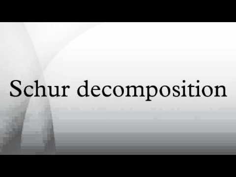 Schur decomposition - YouTube