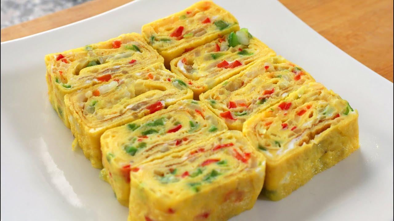 Korean rolled omelette (Gyeran-mari: 계란말이)