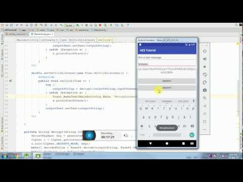 Password based Encryption / Decryption on Android with AES Algorithm