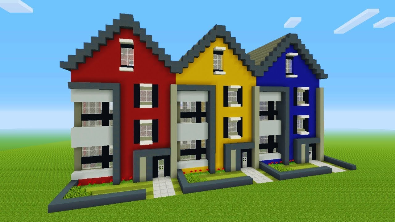 minecraft tutorial how to make a modern town house youtube