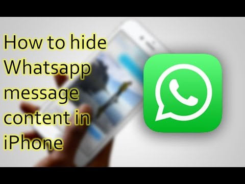How to hide Whatsapp Messages content in iPhone