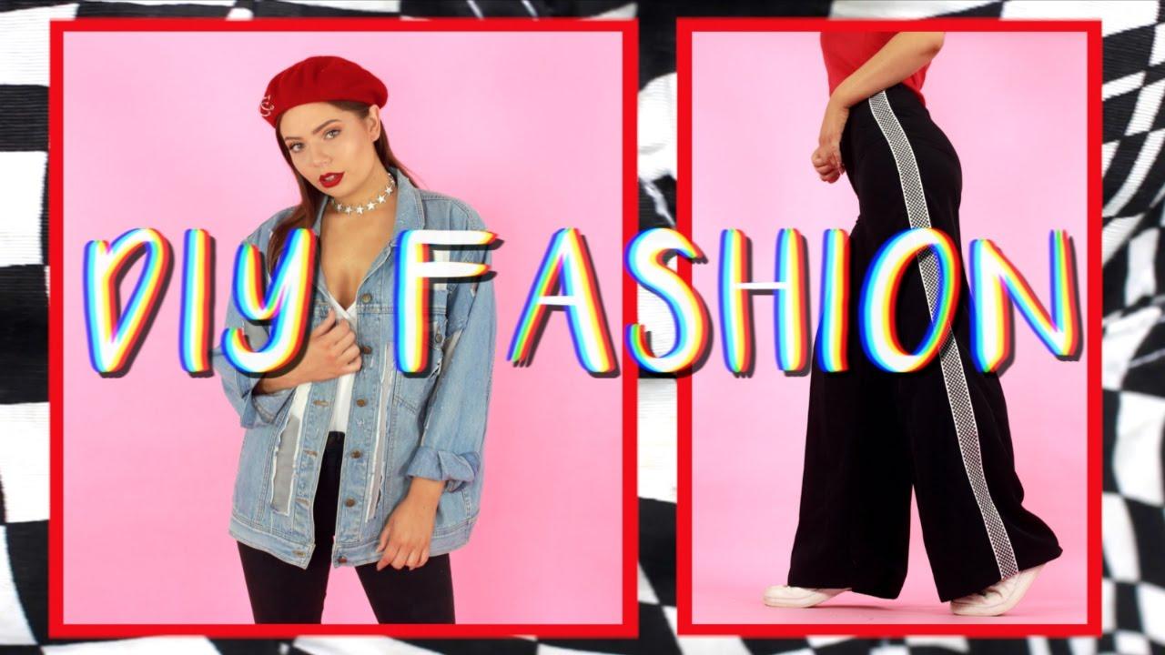 5 Easy DIY Clothing Upgrades | Fashion Hacks - YouTube