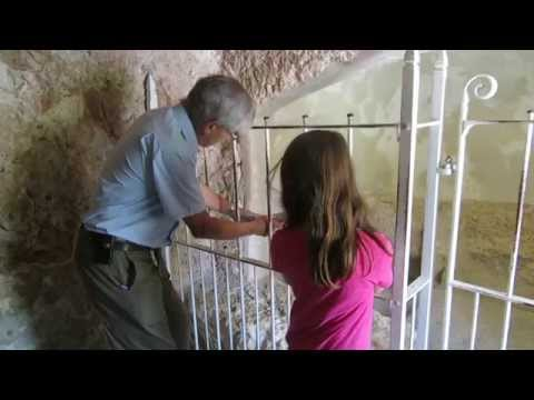 The Garden Tomb, Jerusalem - explanation at the interior part of the Garden Tomb (of Jesus Christ?)