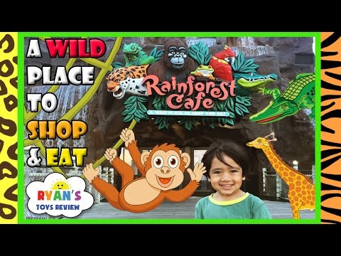 Rainforest Cafe Family Fun Theme Restaurant Animals Amusement Ride Toys for Kids Ryan ToysReview