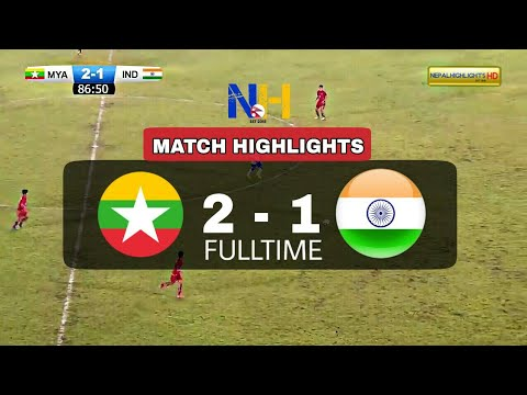 HIGHLIGHTS: Myanmar 2-1 India • Asian Olympic 2020 Qualifier