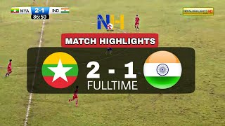 HIGHLIGHTS: Myanmar 2-1 India • Asian Olympic 2020 Qualifier (Women's Football)