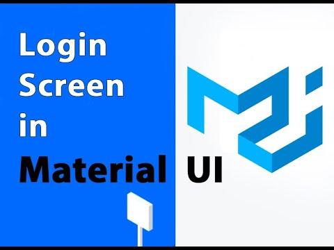 Login screen in