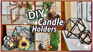 3 FUN Dollar Tree DIY CANDLE HOLDERS!!