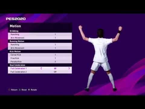 PES 2020 - All Motions & Goal Celebrations