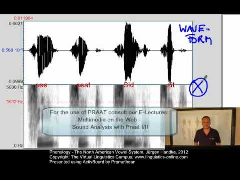 PHY108 - The North American Vowel System