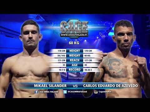 CAGE48 Mikael Silander Vs Carlos Eduardo De Azevedo Fight Highlight
