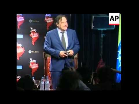 Oliver Stone arrives in Argentina to promote film 'South of the Border'