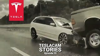 TESLA MODEL Y IN MASS CRASH | TESLACAM STORIES #20