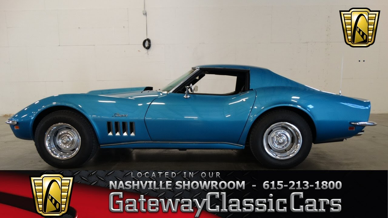 Stingray Corvette 1969 >> 1969 Chevrolet Corvette Stingray 427 - Gateway Classic Cars of Nashville #63 - YouTube