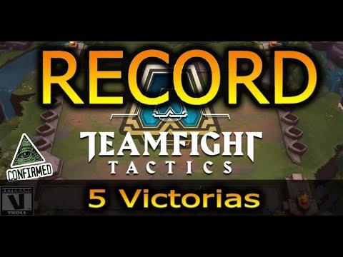 RECORD Mundial🔥 Team Fights Tactics  5 VICTORIAS SEGUIDAS