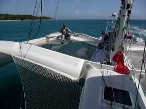 "Flying trimaran ""Johnny be Good"""