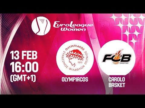 LIVE 🔴 - Olympiacos v Carolo Basket - EuroLeague Women 2019
