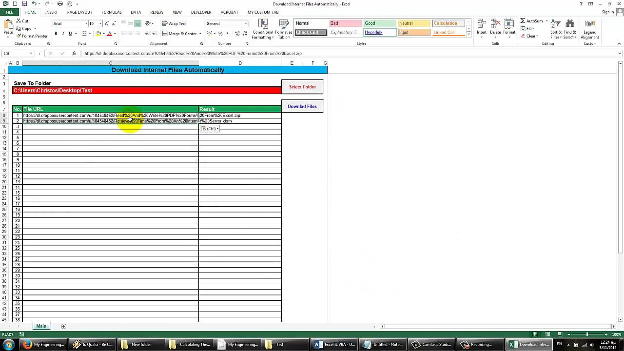 Excel & VBA - Download Internet Files Automatically
