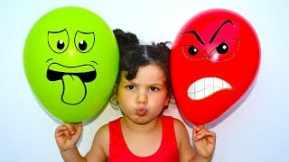 Daddy Finger Nursery Rhymes | Learn Colors With Balloons !
