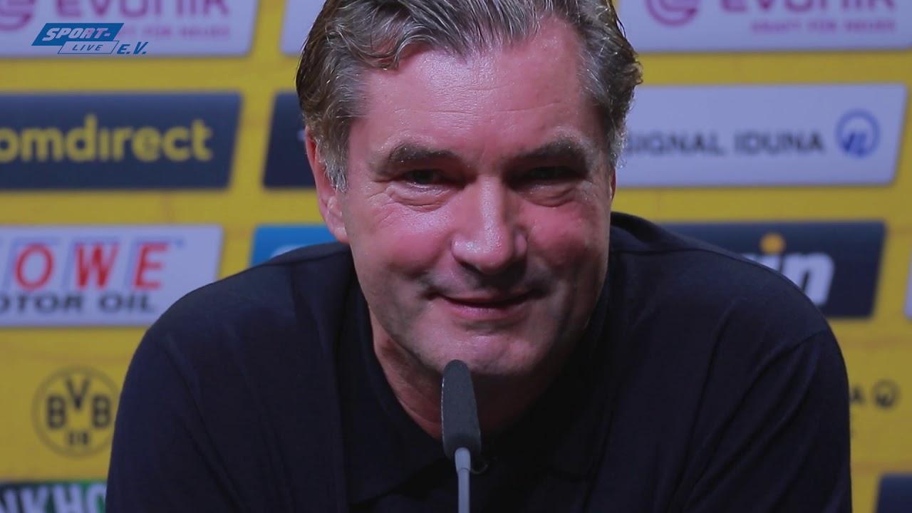 BVB-PK mit Favre und Zorc vor dem Bayern-Spiel