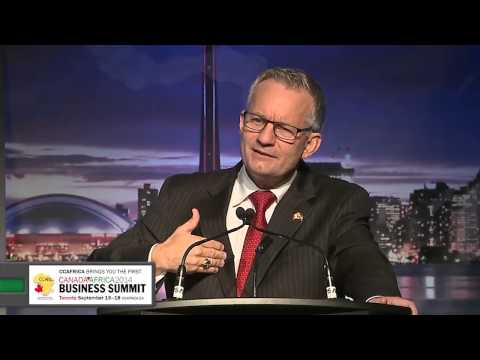 Canada's Minister Ed Fast Keynote address during the First Canada-Africa Business Summit