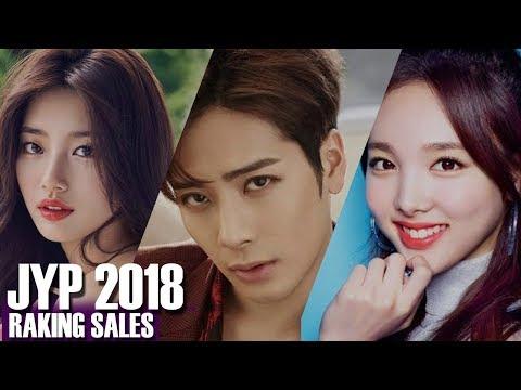 JYP NATION ARTIST RANKING SALES 2018