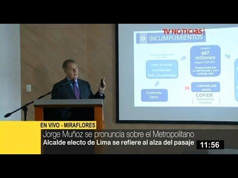 """Jorge Muñoz: """"MML suma S/ 467 millones en laudos perdidos, según Cofide"""""""