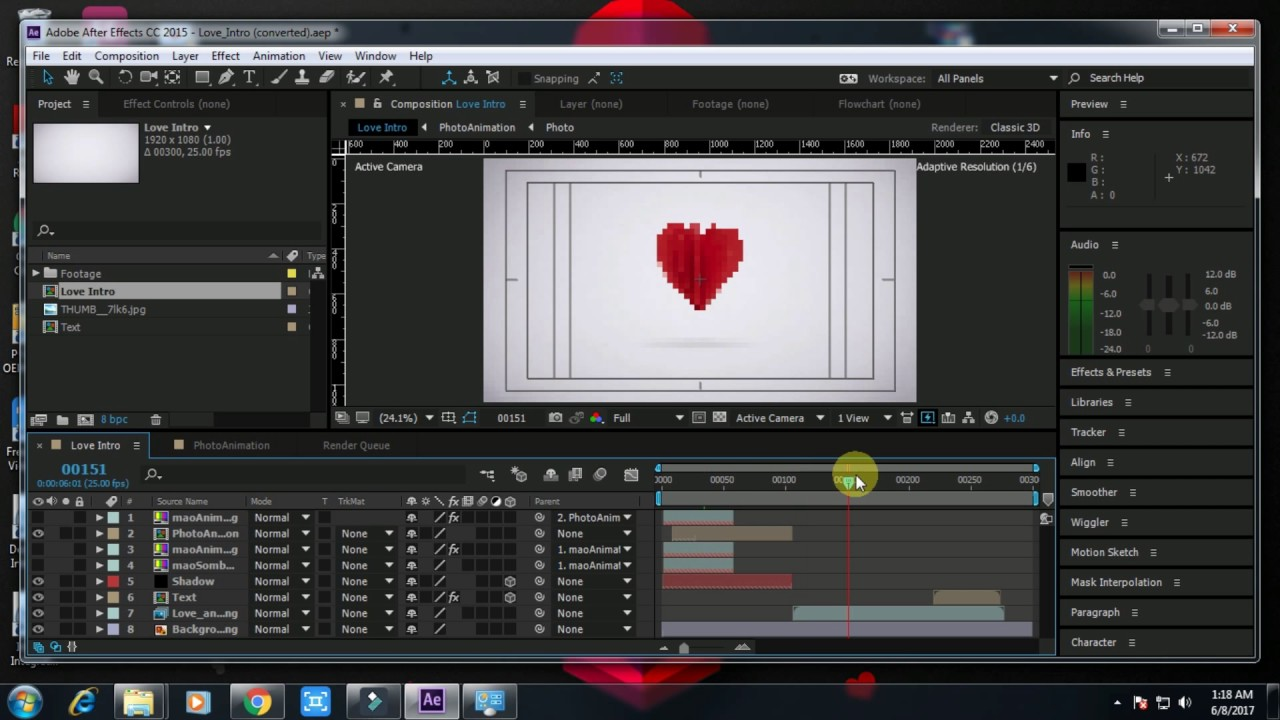 How to make a Love intro Adobe After Effects (Tutorial +Free Download)