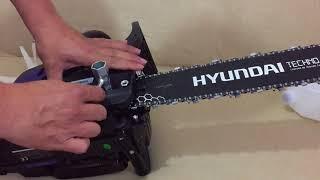 Hyundai Techno 700 Motorlu Testere Kurulumu | Motorlu Testere Zincir Ayarı