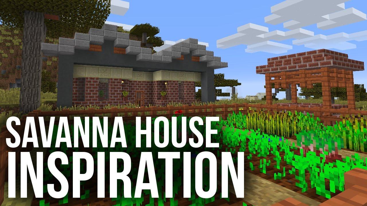 Savanna house inspiration minecraft youtube for House inspiration