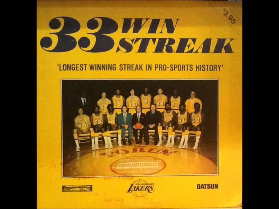 1972 Los Angeles Lakers 33 Game Win Streak Lp Youtube
