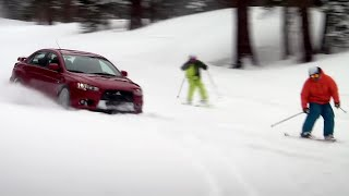 Evo versus Skiers | Top Gear USA | Series 1