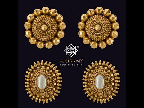 Latest Gold Ear Studs Designs|Small Tops|