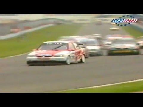 1998 Autotrader RAC BTCC Donington Park Round 5 From Eurosport TV.