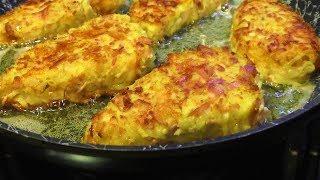 Уверенна таких гренок с колбасой,картофелем вы ещё не пробовали.Сочные,хрустящие и очень аппетитные