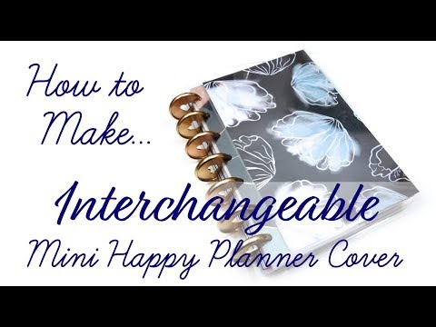 DIY Interchangeable Mini Happy Planner Covers!! // DIY Credit Card Holder // Happy Planner Tutorial