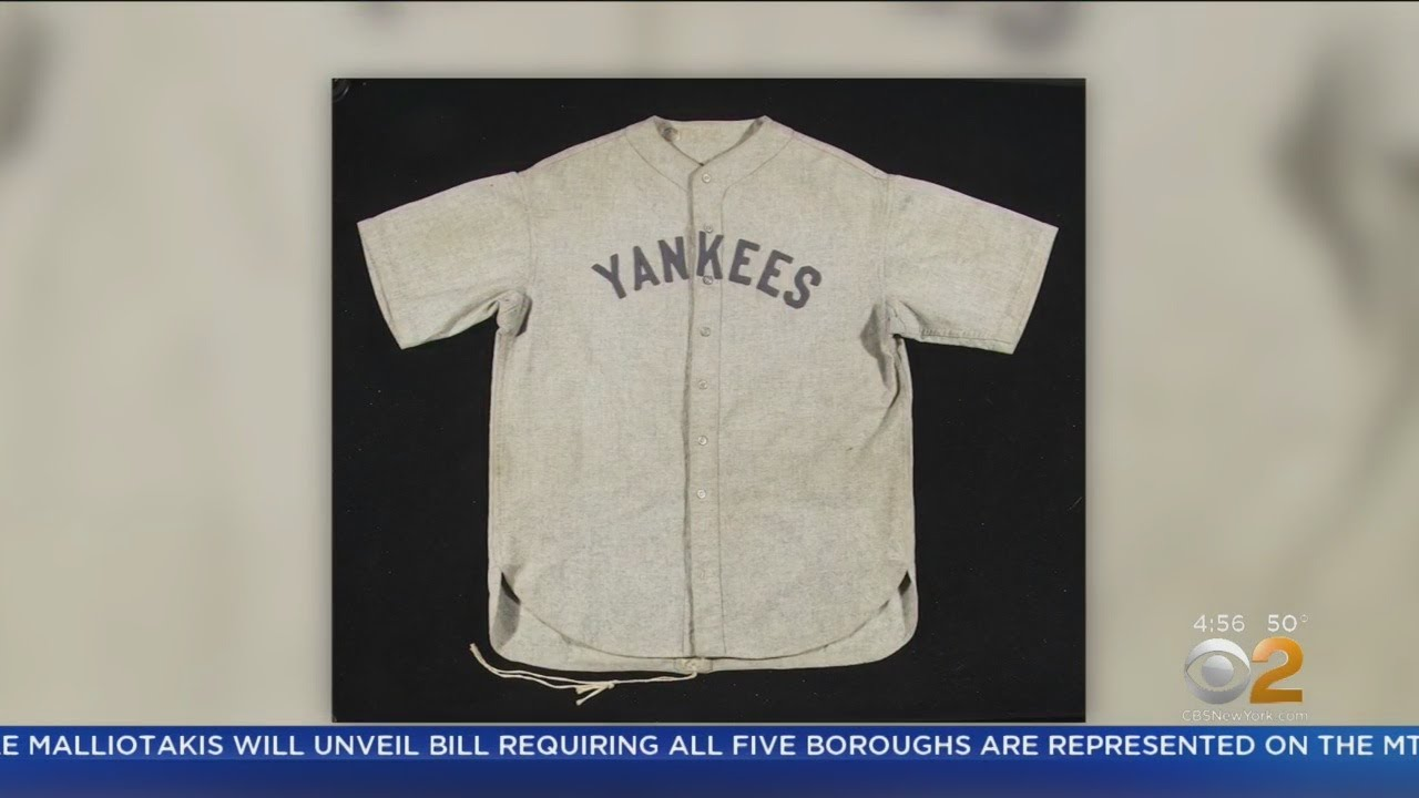 uk availability 9cc55 99a58 Rare Babe Ruth Jersey Expected To Sell For $4.5 Million ...