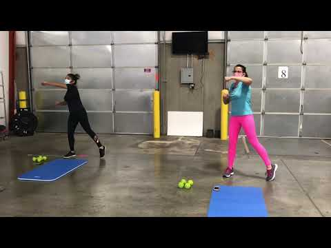 Playtime... with a little kickboxing!