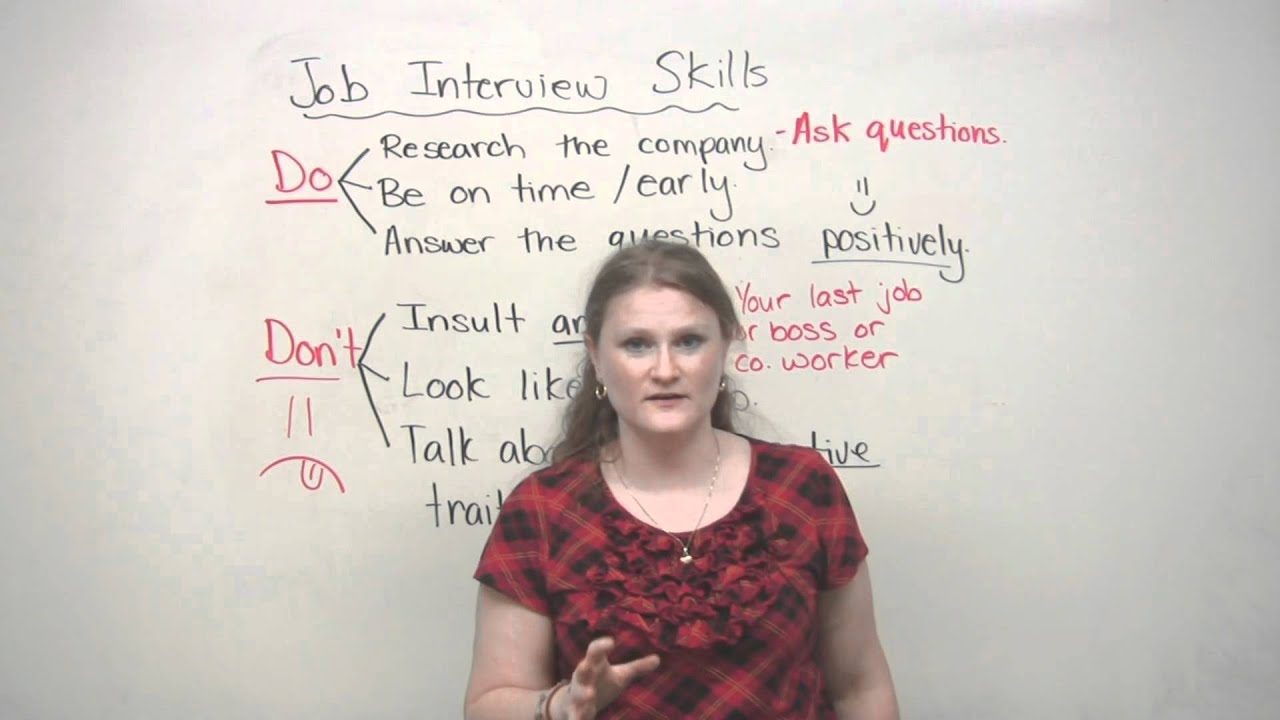 job interview skills dos and don ts