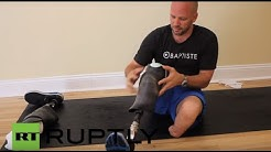 USA: Veteran and double amputee holds Yoga class to raise PTSD awareness