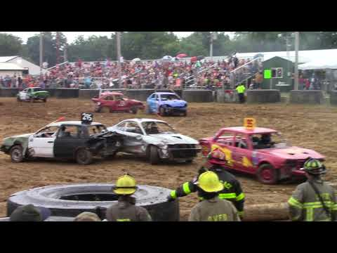 2018 Owen County Fair Demolition Derby Minis Painkiller and Princess Malicious