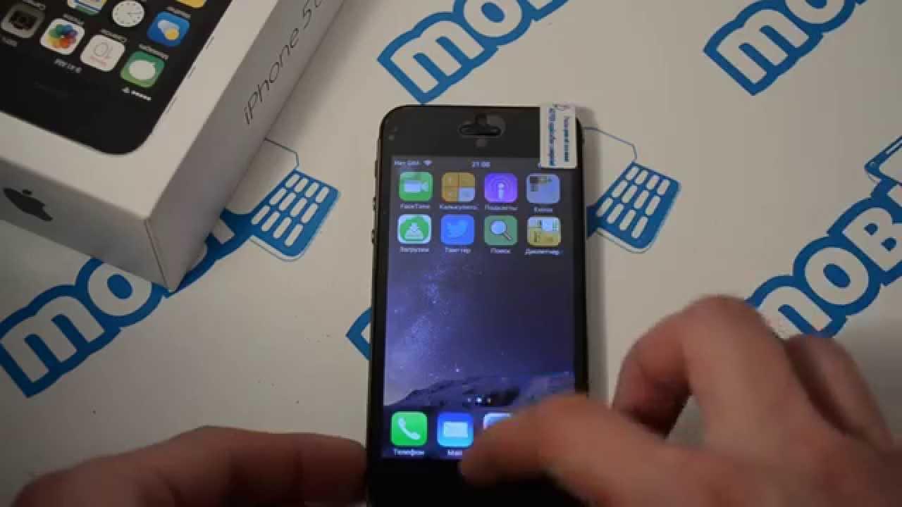 Видео обзор китайского iPhone 5S Android МТК 6589 - YouTube