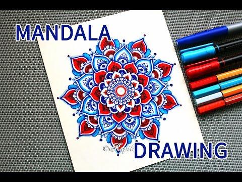 Процесс рисования мандалы / Mandala Drawing
