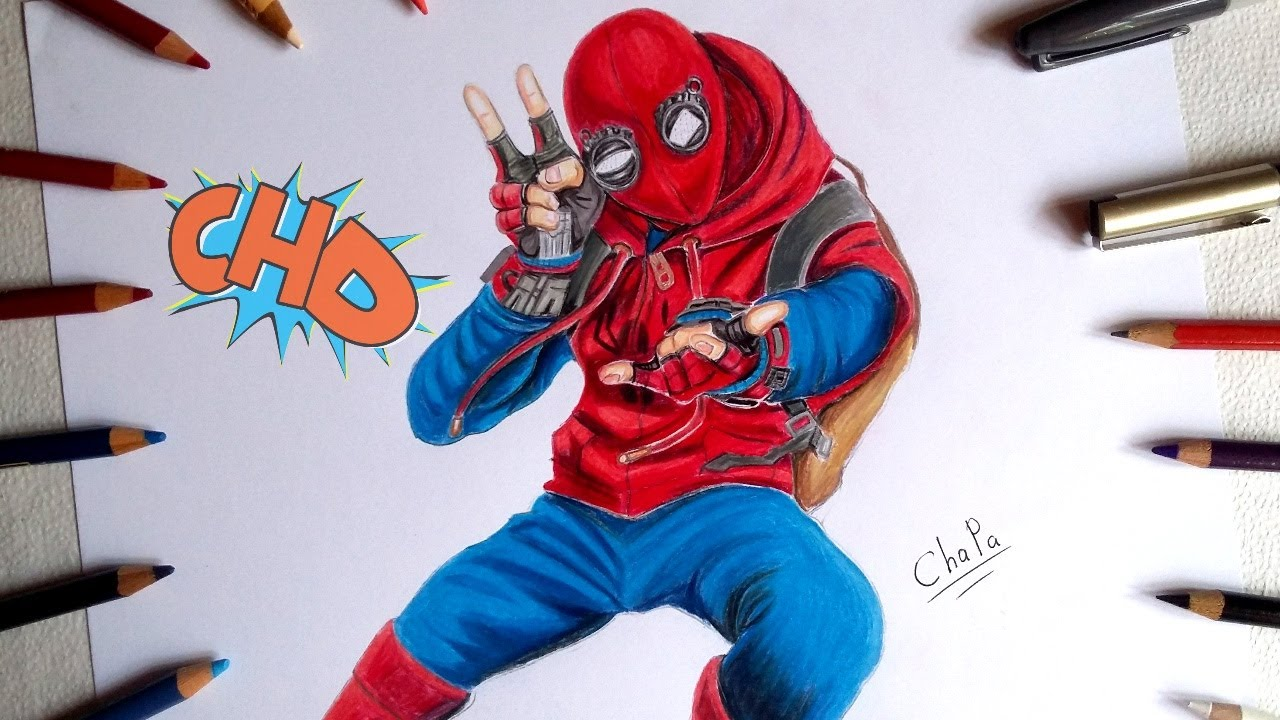 DIBUJANDO A SPIDERMAN HOMECOMING/ DRAWING SPIDERMAN